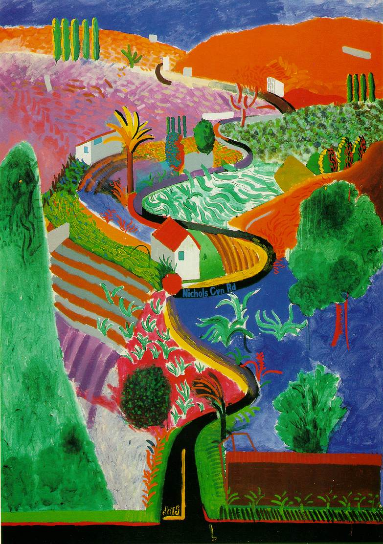 david hockney nichols canyon