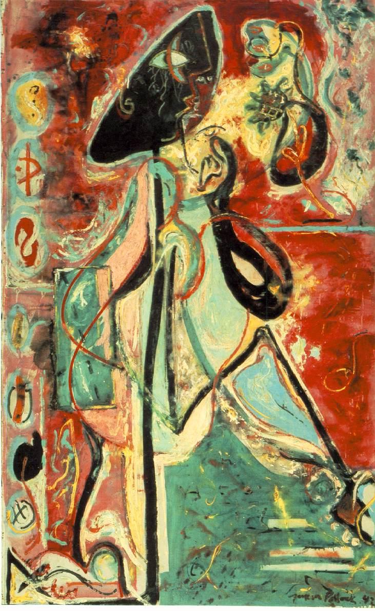 Jackson Pollock Moon Woman